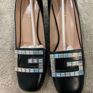 gucci shoes crystal pump